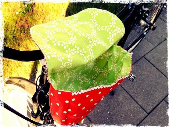 Nähen, Schönheiten des Augenblicks und Leben: Fahrradtasche