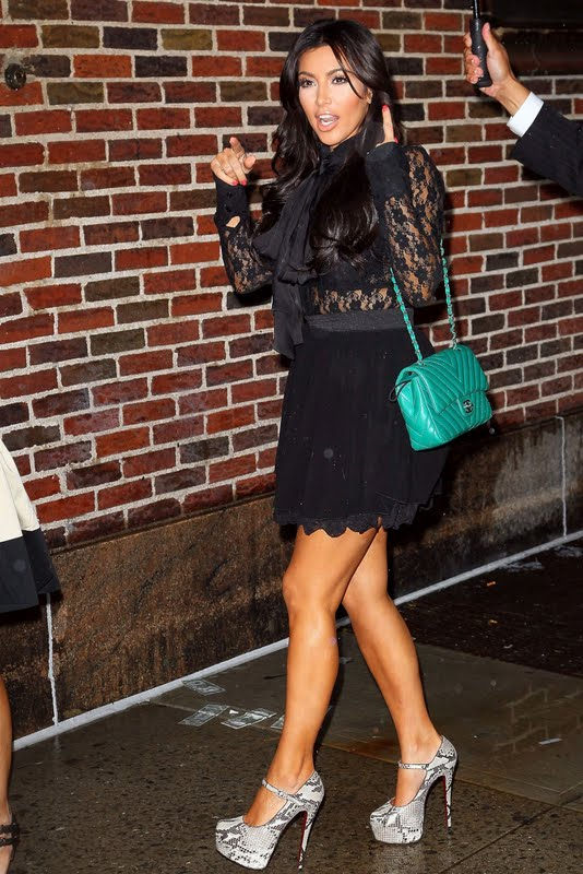 "Kim Kardashian Visits ""The Late Show with David Letterman"" in New York"