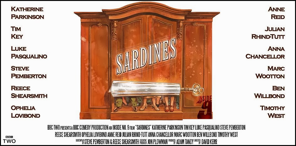 Inside No 9 - Sardines poster - by Reece Shearsmith and Steve Pemberton