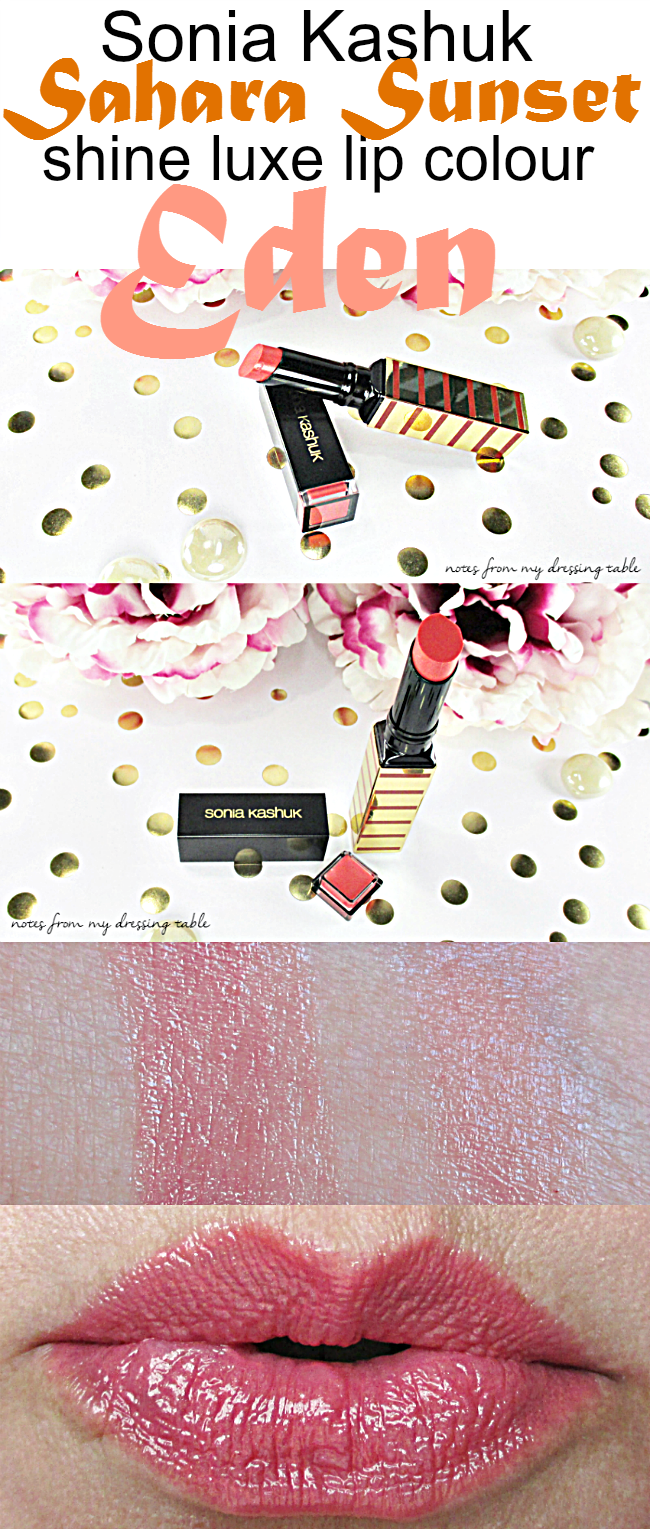 Sonia Kashuk Shine Luxe Lipstick | Eden notesfrommydressingtable.com
