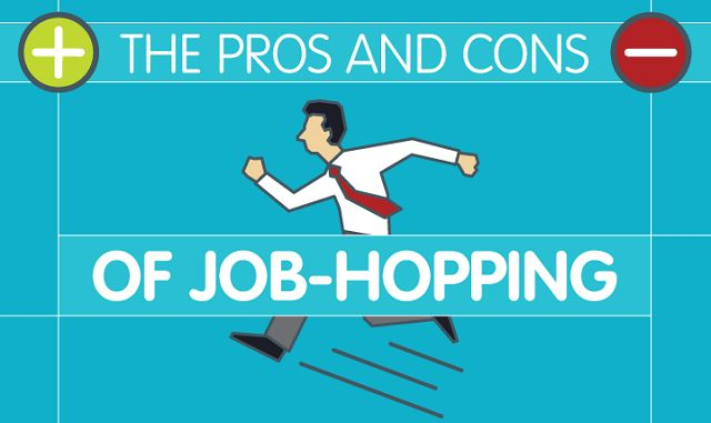 The pros and cons of job hopping infographic visualistan