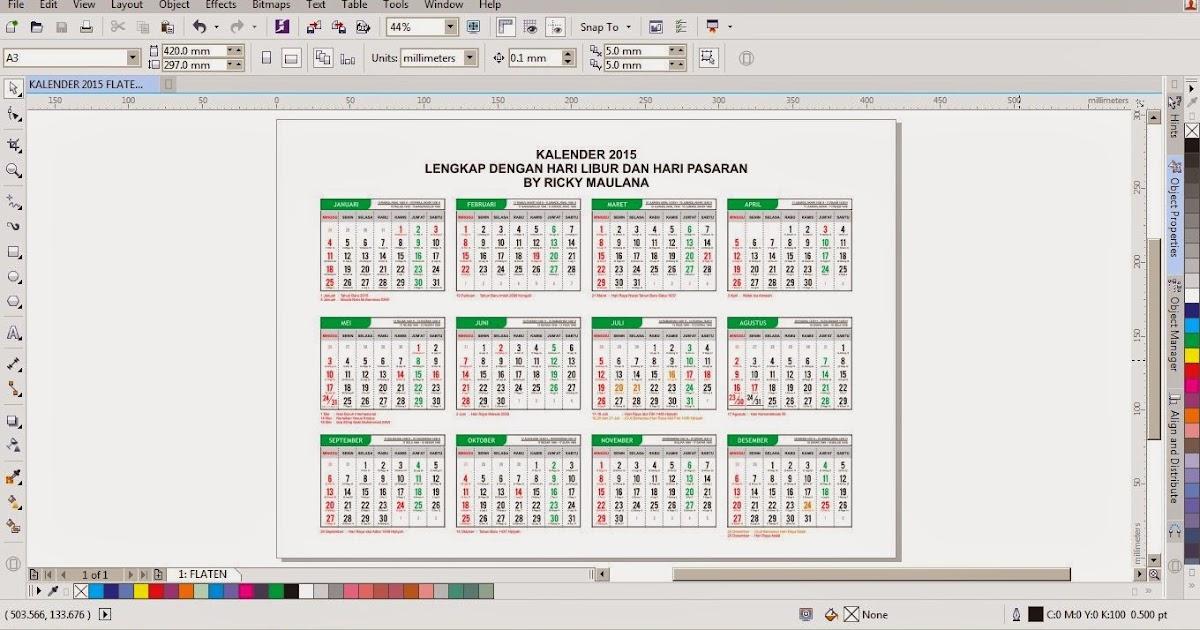 Warnet World: Kalender 2015 Lengkap dengan Hari Libur Nasional dan ...