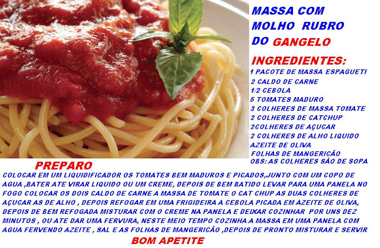 MASSA AO MOLHO RUBRO