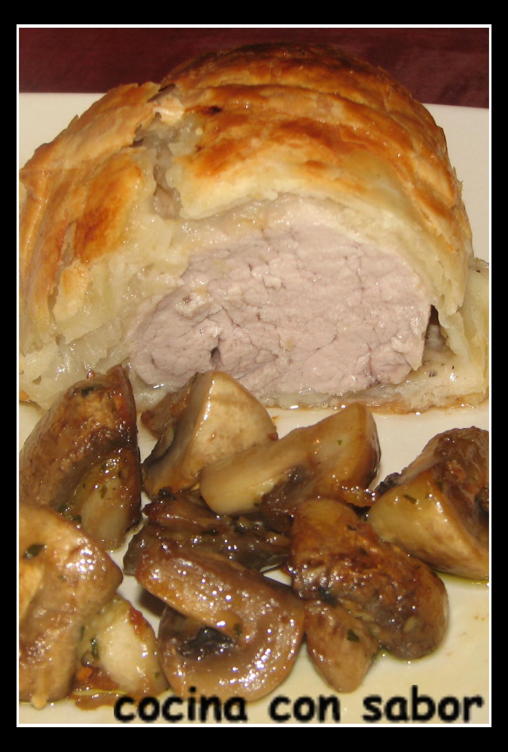 Cocina con sabor solomillo de cerdo encebollado en hojaldre - Solomillo de cerdo encebollado ...