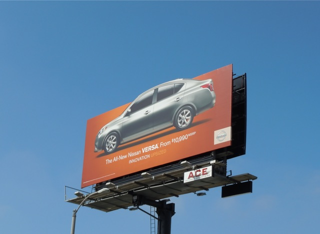 Nissan Versa car billboard