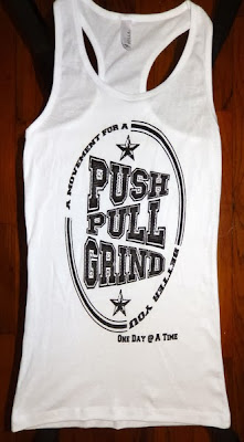 White Push Pull Grind Women's Racer Back