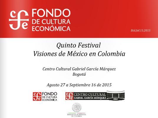 V Festival Visiones de México en Colombia