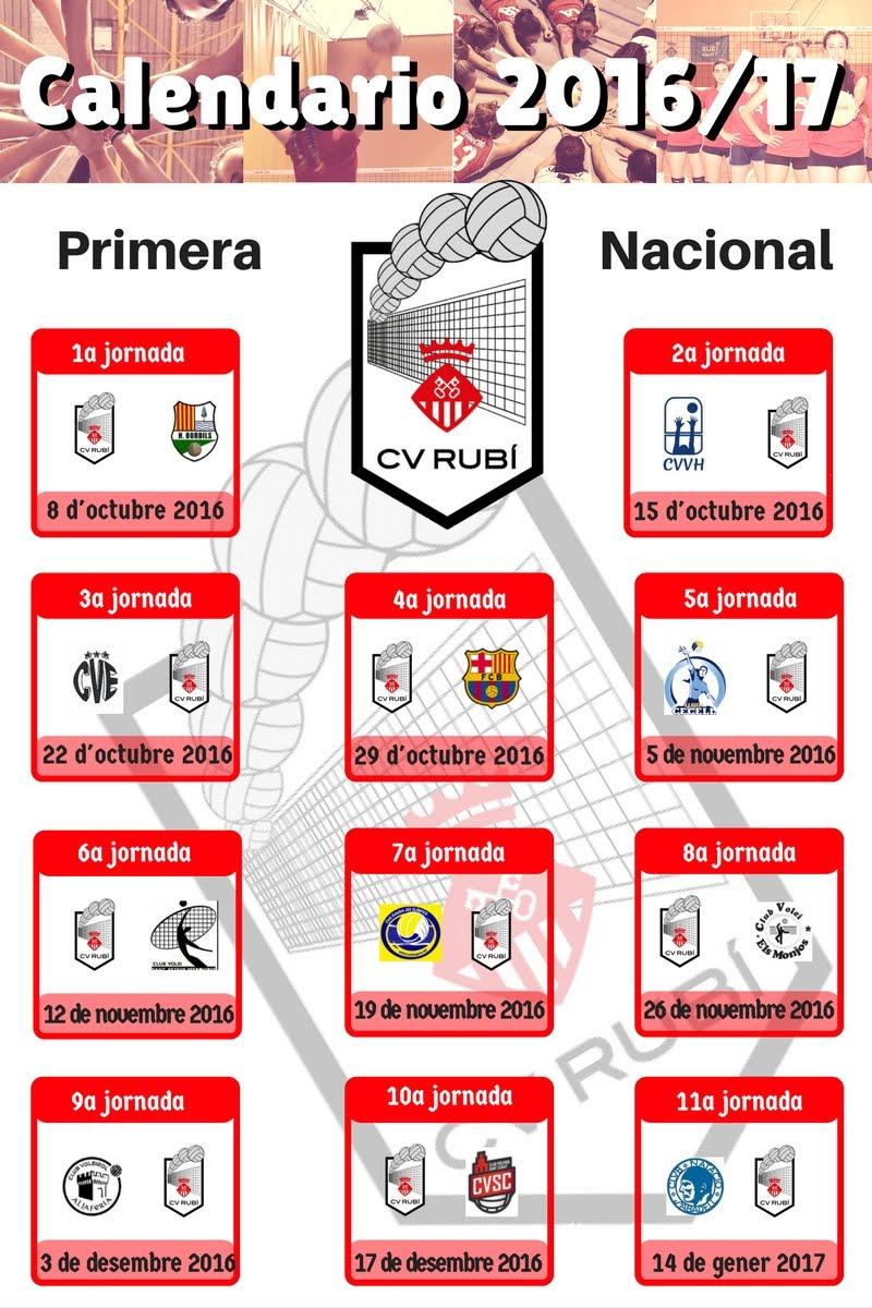 Calendari 1a volta - Primera Nacional