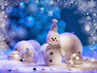 Cheerful_snowman_and_Christmas_tree_decorations_cards_download
