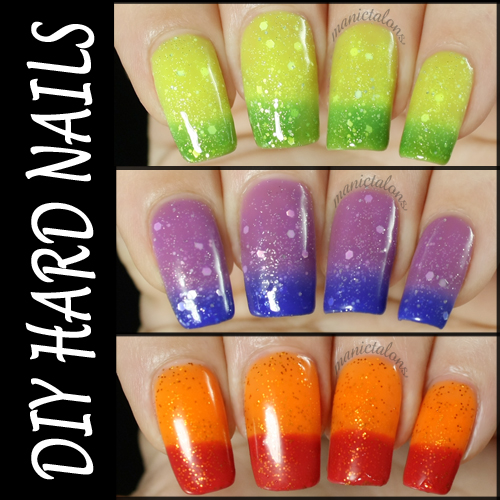 DIY Hard Nails Thermal Gel Polish Swatches and Review