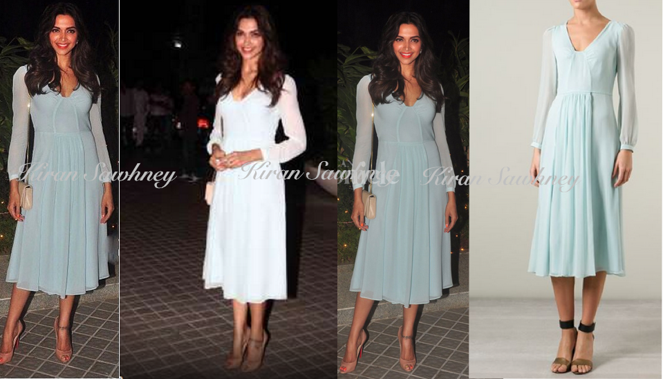 Deepika Padukone at Farah Khan's 50th Birthday Bash in Burberry