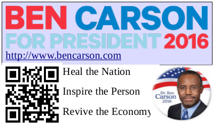 Ben Carson Business Card