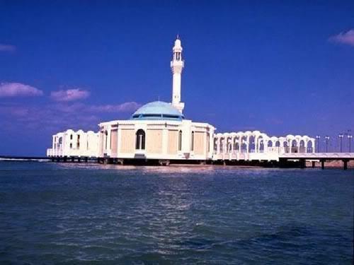 grey بالصور المسجد العائم في جدة