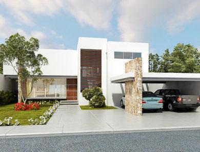 Fachadas de casas fachadas minimalistas for Viviendas estilo minimalista