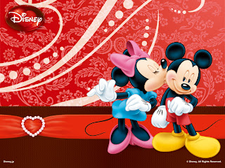 minnie besa a mickey el dia de san valentin
