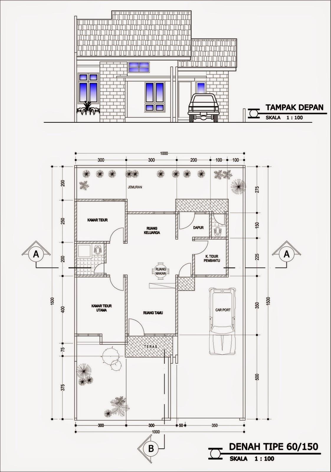 Desain Rumah Minimalis 2 Lantai 6X10