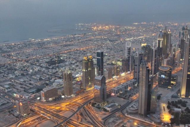 Vistas desde el mirador del Burj Khalifa de Dubai