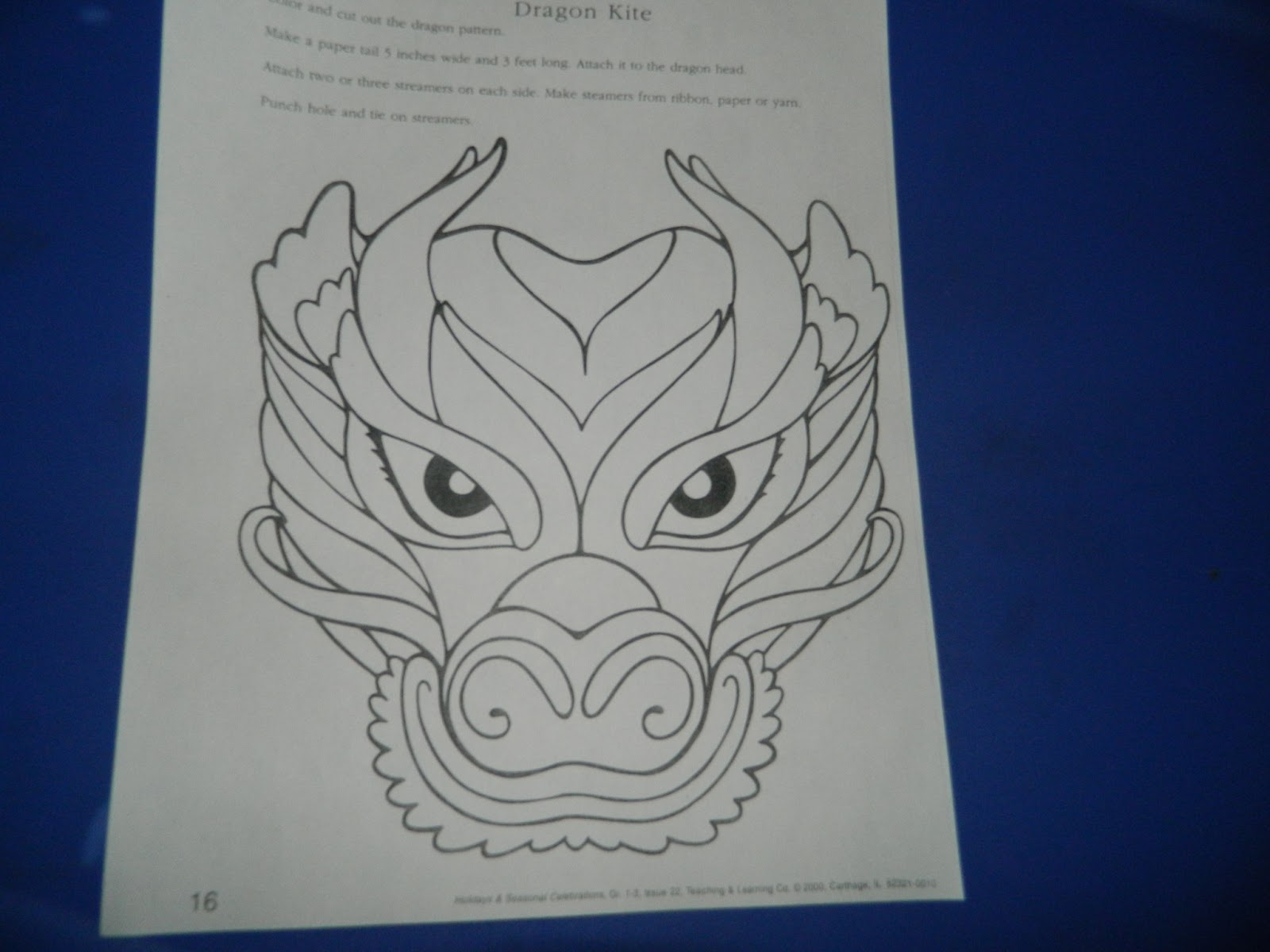 chinese dragon face template - the random things i do craft chinese dragon puppet