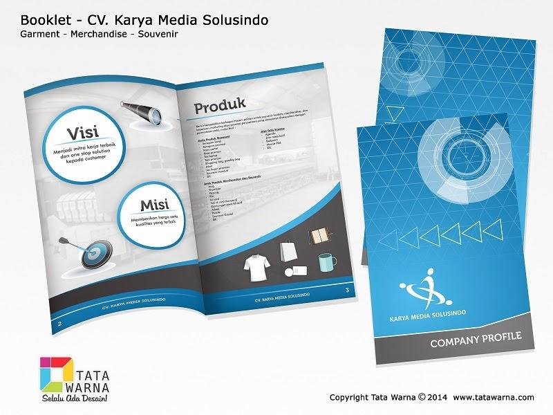 Contoh Desain Company Profile Booklet Perusahaan Garment, Merchandise