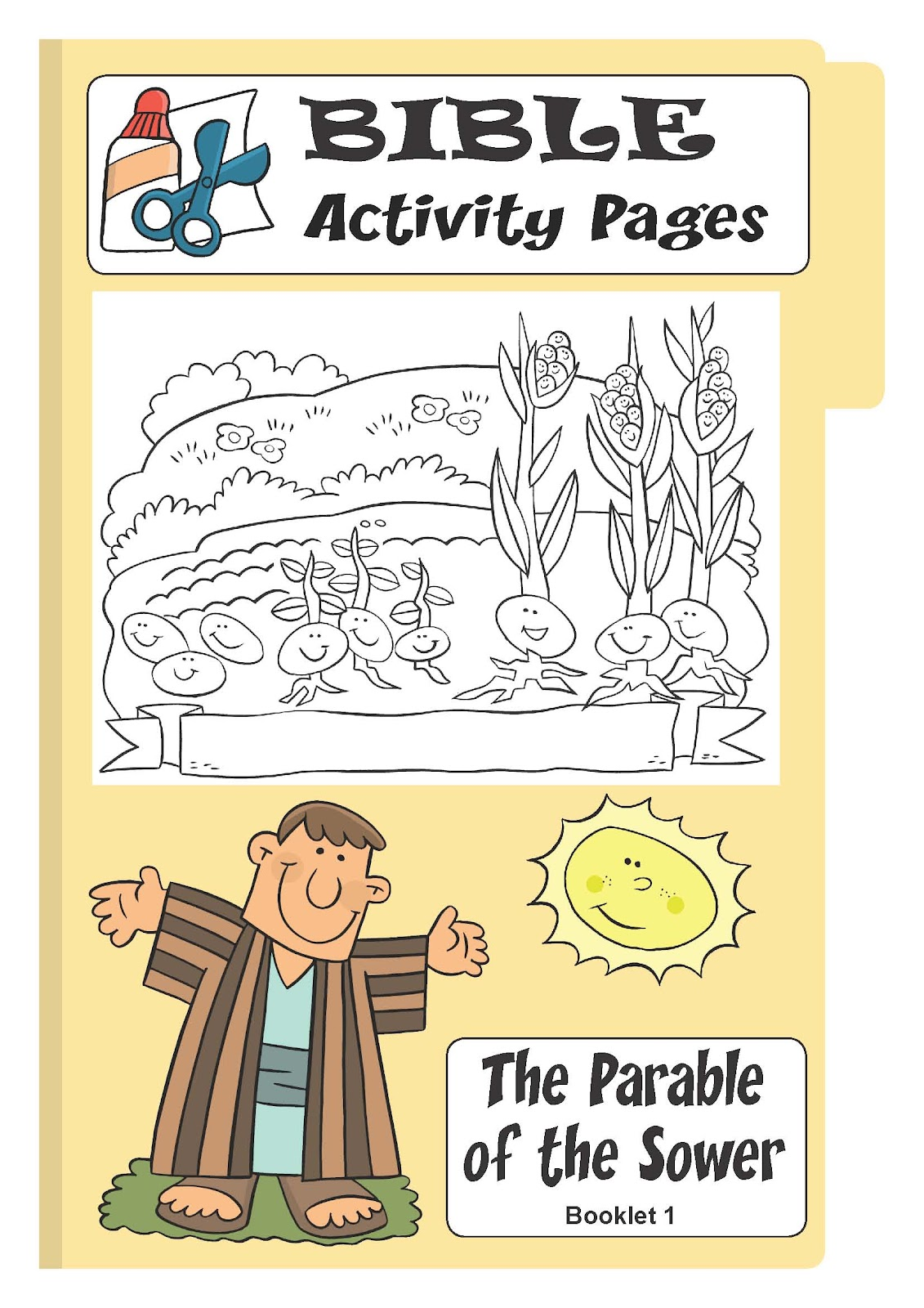my little house bible activity pages the parable of the sower