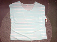 sew a basic shirt design like this top from Old Navy