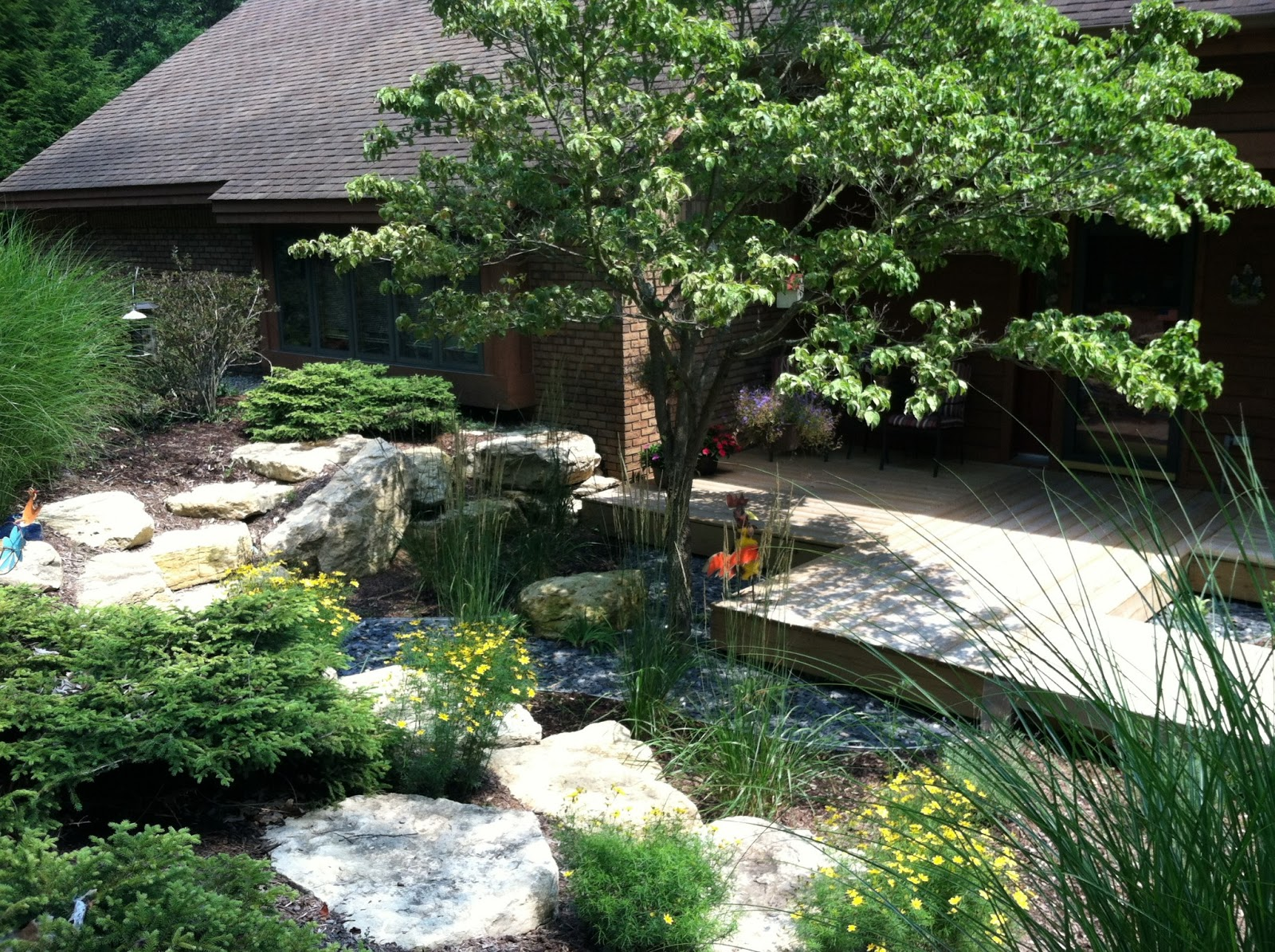 Apex landscape backyard makeover for Garden makeover ideas
