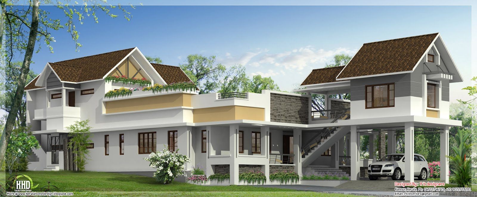 Unusual wide home design home appliance for Unique house plans