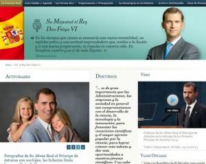 Página oficial de la Casa Real de España