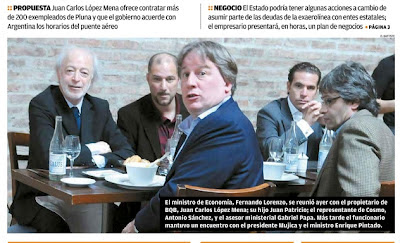 restaurante Lindolfo, López Mena, Lorenzo, Pluna, remate
