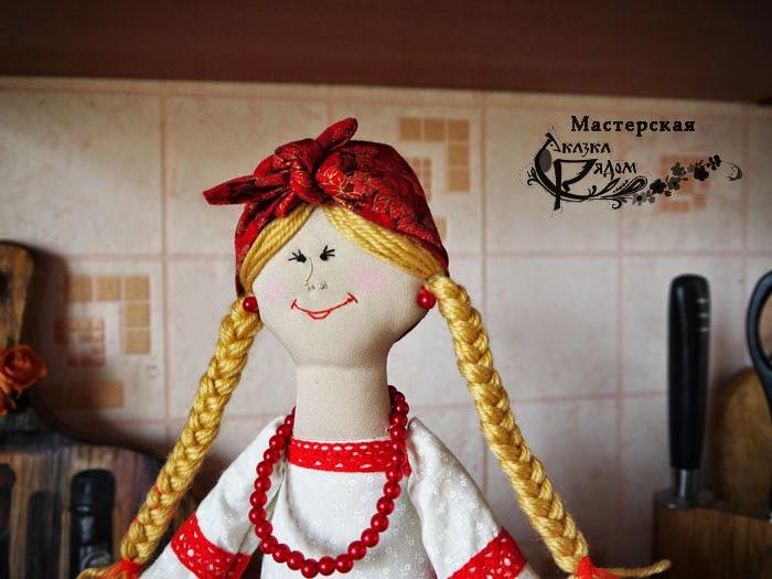 русская кукла, на самовар,