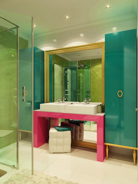 attractive and youthful bathroom vanity