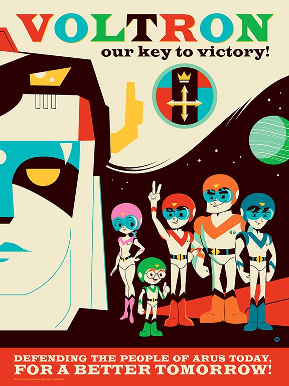 """Voltron: Our Key To Victory!"" Print by Dave Perillo"