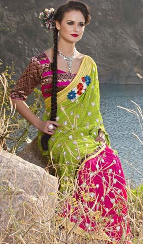 Kaneesha Party wear Sarees Collection 2013