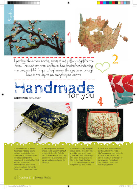 Sewing World Feature October 2012