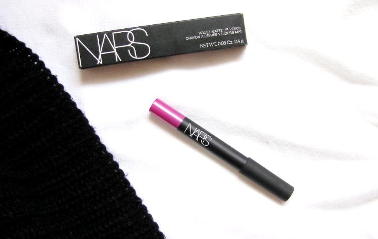 nars velvet matte lip pencil never say never review swatch