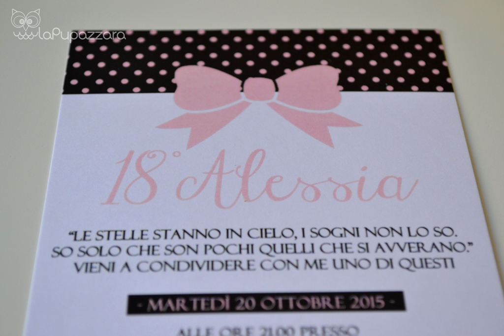 Top La Pupazzara: Inviti 18 anni TQ54