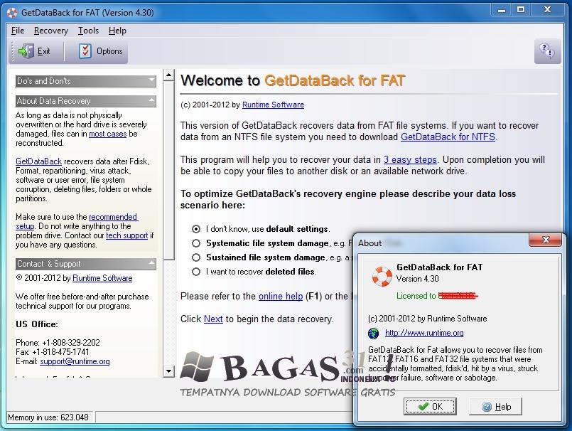 getdataback for fat 4.33 key