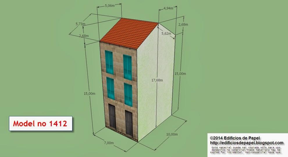 """Edificios de Papel - Modelo 1412 - Edifcio Granito 6. Serie """"Ourense"""" - """"Ourense"""" series"""