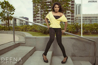 Deena Tissera black leggings hot