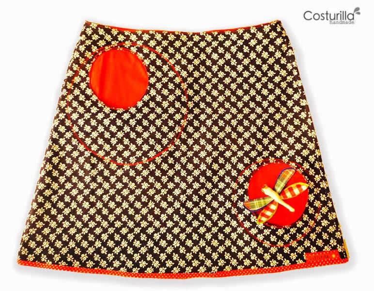 Falda artesanal, costurilla handmade