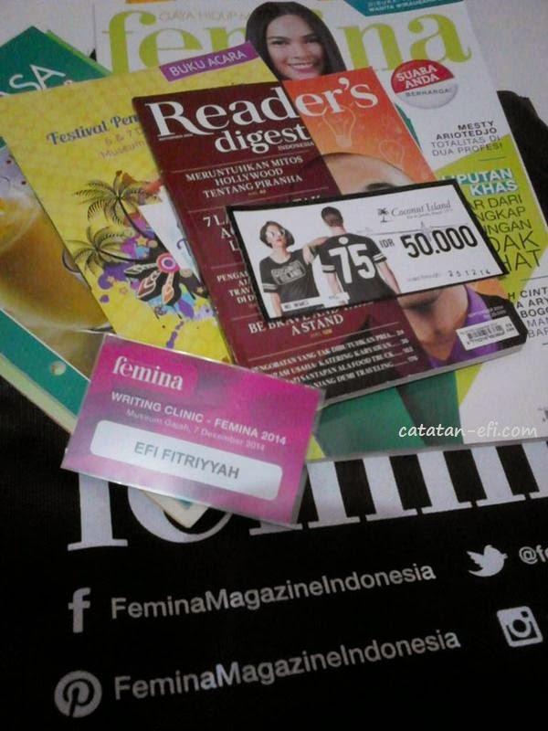 Ikutan Serunya Acara  Writing Clinic Femina