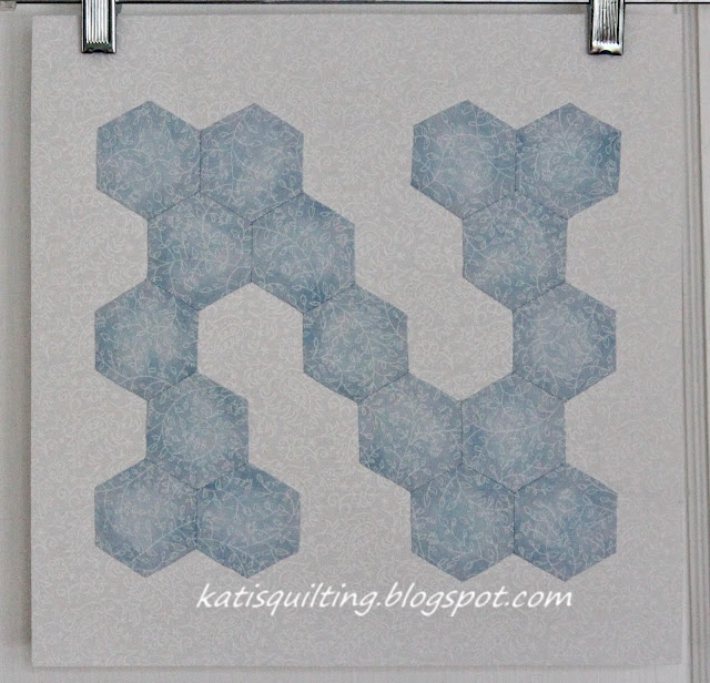 Letter N made with hexagons