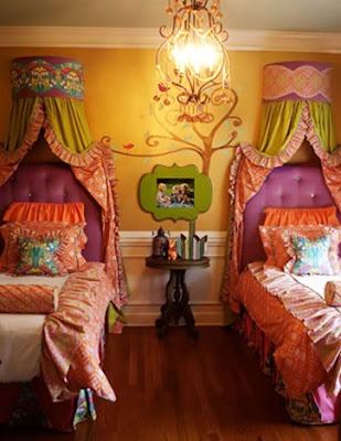 dormitorio dos niñas colorido