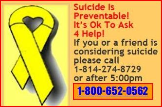 Call if you are thinking about suicide