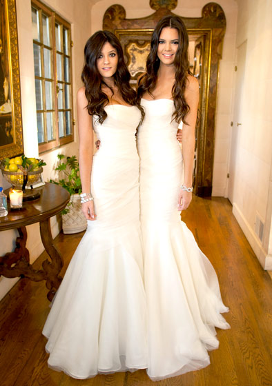 Kyle e Kendall no casamento de Kim Kardashian
