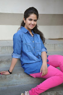 Acress Avika Gor Pictures in Pink Tight Jeans at Uyyala Jampala Movie Press Meet  0081