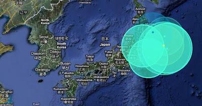 mapa sismo japon 29 de Junio 2011