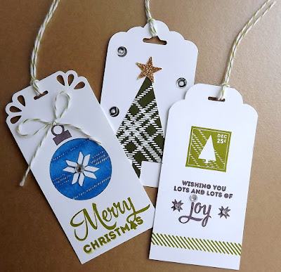 Stampin' Up! Christmas tags; Lots of Joy