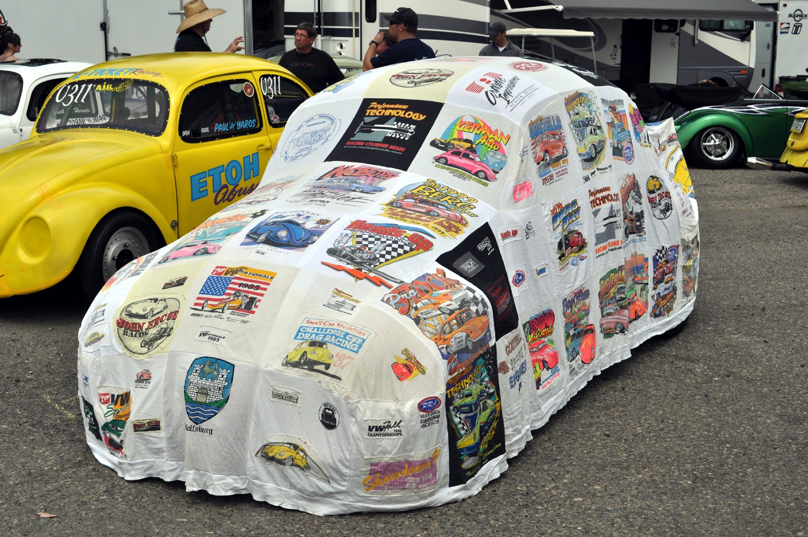 I Dig Car Covers Made From Car Show Tshirts Auto Designs - Car show t shirts