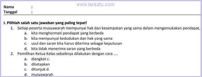 download kumpulan soal ulangan harian pkn ktsp kelas 5 smstr 2 2015
